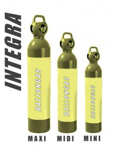 Helium Bllongas in INTEGRA-Flaschen